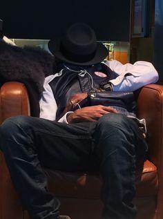 Pharrell napping.