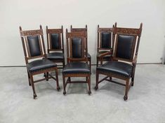 Northwind & Paw Foot Oak Victorian Dining Chairs Victorian Dining Chairs, Antique Chairs, Antiques, Furniture, Design, Home Decor, Antiquities, Antique, Decoration Home