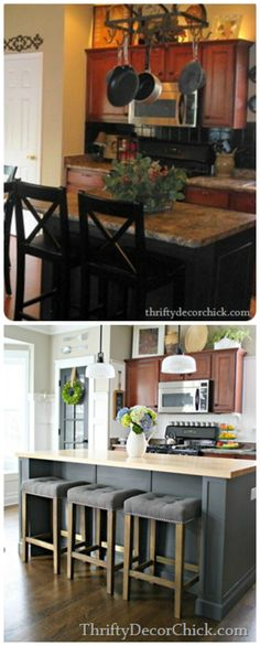 A Kitchen Island Remodel several years in the making. But the final product was totally worth all the work!