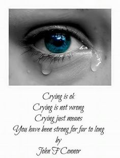 Its OK to cry!