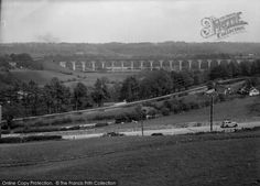 Chirk, Cefn Viaduct in 1939 (Neg. C366019). #Chirk #Clywd #Wales #viaduct
