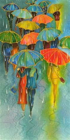 Well dress crowd with colored umbrellas painting art. Umbrella Art, Art For Sale Online, Art Online, Mixed Media Artwork, Wow Art, Online Art Gallery, Amazing Art, Original Paintings, Original Art