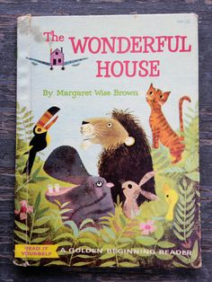 1960 THE WONDERFUL HOUSE Margaret Wise Brown Vintage Children's Golden Book by WUNDERSTUFF on Etsy
