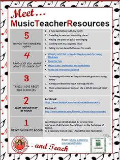 Meet MusicTeacherResources!!! :-) FREE download: a little bit of info about me AND a FREE teaching download!
