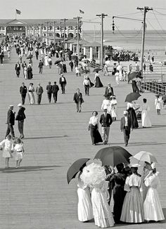 Boardwalk at the Jersey Shore, c.1905 - Imgur