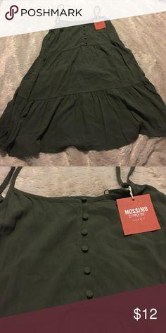Women's Mossimo A Line Dress Women's Medium Mossimo Olive Green A Line Dress Mossimo Supply Co. Dresses
