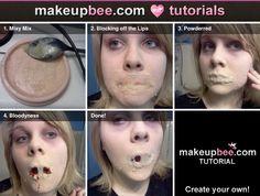 Step-By-Step Tutorial for Missing Skin | fx makeup | Pinterest ...