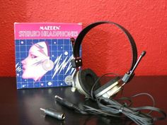 Vintage Early 80s Deadstock Never Used Old School Headphones - Made In Japan by beatbopboom on Etsy
