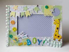 Scrapbook Bebe, Baby Boy Scrapbook, Birthday Scrapbook, Shadow Box Art, 1st Birthday Gifts, Diy Baby Gifts, Envelope Design, Baby Album, Frame Crafts