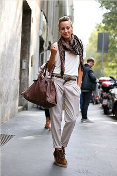 Do like these fashionistas at Milan Fashion Week and knot a skinny belt at the waist for a super sleek silhouette.