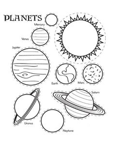 Solar System Craft | Kids Craft | Kids Activity | Space Activity | Space Craft | Solar System Coloring Page