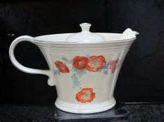 Hall China Orange Poppy Melody Teapot