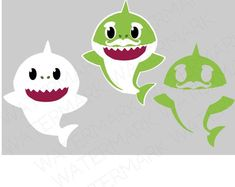 Shark Cutout Files for Cricut SVG and Silhouette Studio File Shark Birthday Cakes, 1st Boy Birthday, Boy Birthday Parties, Baby Hai, Shark Family, Shark Party, Cricut Creations, Etsy, Silhouette Studio
