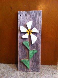 Abstract flower pallet sign