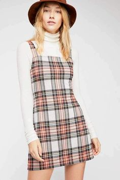 Taylor Check Mini Dress, presented by Free People. I think I wore this dress in Free People calls this a plaid mini dress featured in a soft woven fabric, but I beg to differ. Little Dresses, Cute Dresses, Casual Dresses, Casual Outfits, Summer Outfits, Cute Outfits, Fashion Outfits, Mini Dresses, Floral Dresses