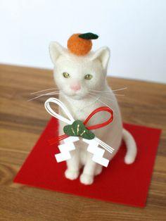 白猫(お正月飾りセット)