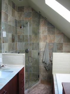 1000 images about ideas for the attic on pinterest for Small bathroom with sloped ceiling