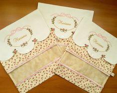 Kit Porta roupas de bebê floral