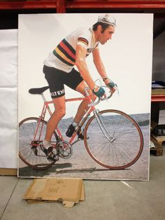 Levensecht portret van Eddy Merckx Your Image, Bicycle, Van, Prints, Bike, Bicycle Kick, Bicycles, Vans, Vans Outfit