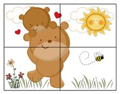 разрезные кубики -  WOODLAND BEAR CUB Mural Decals Baby Girl Boy by decampstudios Educational Games For Kids, Toddler Learning Activities, Montessori Activities, Activities For Kids, Zoo Preschool, Kindergarten, Pretty Wallpapers Tumblr, Fun Worksheets For Kids, Learning English For Kids