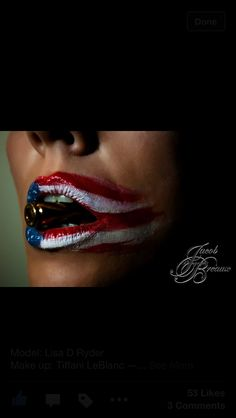 Make-up I did for a 4th of July themed photoshoot!