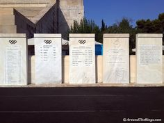 Every Summer Olympic host city and IOC President gets their name enshrined at the original Olympic Stadium. Summer Olympics, Olympic Games, Photo Galleries, Running, City, World, Gallery, Roof Rack, Keep Running