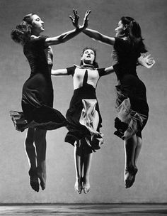 """Martha Graham, """"Celebration"""" (Trio), 1937. Barbara Morgan (1900 – 1992) an American photographer best known for her work in dance. She was a co-founder of the photography magazine Aperture."""