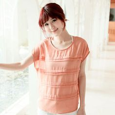 $38 Sleeveless Pleated Chiffon Top
