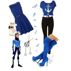 Aqualad - Outfit of the 'real' world Teen Titans Outfits, Batman Outfits, Edgy Outfits, Cool Outfits, Yellow Tights, Disney Inspired Fashion, Character Inspired Outfits, Fandom Outfits, Geek Fashion
