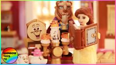 Disney's Beauty and the Beast castle includes a balcony, stained glass window, enchanted rose and the magic mirror. Enchanted Castle, Enchanted Rose, Motion Video, Stop Motion, Beast's Castle, Lego Disney Princess, Ice Castles, Lego Toys, Magic Mirror