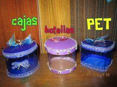 CAJAS DE BOTELLAS PET - YouTube Diy Plastic Bottle, Bottles And Jars, Merry Christmas, Diy Crafts, Mango, Handmade, Facebook, Twitter, Youtube