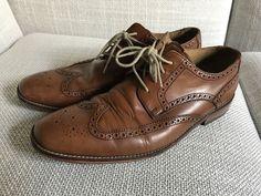 8fb97c26ba0 Cole Haan Air Giraldo Wingtip British Tan Brown Calf Dress Shoes Size 11 M   fashion