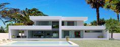 MODERN VILLAS for sale - Luxury contemporary villas and real estate in Marbella, Cannes, Vilamoura, Dubai Minimalist House Design, Minimalist Home, Contemporary Architecture, Architecture Design, Dubai Houses, Modern Villa Design, Modern Properties, Property Design, Facade House