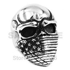 Infidel Skull Biker Ring