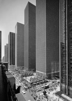 Exxon Building on Sixth Avenue, Harrison and Abramovitz, New York, N.Y., 1974