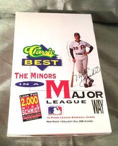 1991 Classic Best The Minors in a Major Way Baseball Card Lot Display Box Promo #Baseball #Cards #1991 #DisplayBox #TheMinors #TheMajors