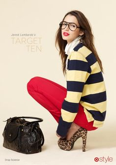 Prep club / karen cox. .Trend watch: stripes & leopard are an amazing combination #TargetStyle