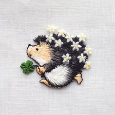 Embroidery hedgehog.