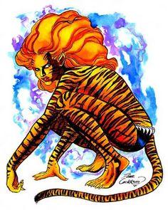 Tigra by Dave Cockrum Marvel Women, Marvel Girls, Comics Girls, Fun Comics, Tigra Marvel, Marvel Art, Marvel Comics, Comic Book Characters, Marvel Characters