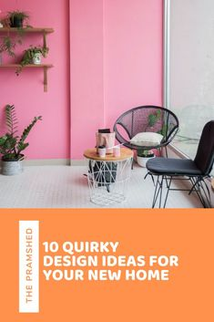 From upcycling, to creating picture and feature walls, to adding tiles, here are 10 quirky interior design ideas that you can apply to your new home or renovation project.
