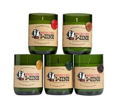 Candles with a cause! These repurposed wine bottle candles will light up your room for hours while also lighting up the lives of our best friends with fur. With every sale Rescued Wine Candles gives back to various animal rescue groups