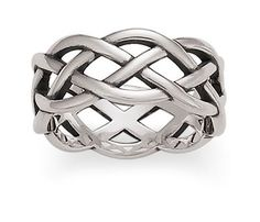I've been looking for a simple wedding band to replace the one I lost... It might be nice to have a plain one to wear under gloves, etc while at work! Woven Band | James Avery