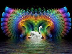 Swan Lake Fractal. by Thelma1.deviantart.com on @deviantART