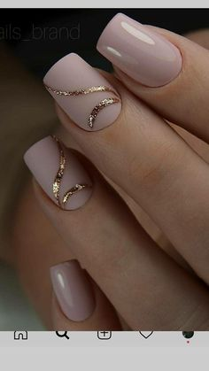 As we all know, today's fashion is gel nails. Neon colors or natural, we all love new designs. today we want to write especially about natural gel nails. Elegant Nails, Stylish Nails, Trendy Nails, Elegant Nail Designs, Cute Acrylic Nails, Cute Nails, Gel Nagel Design, Bride Nails, Nagellack Trends