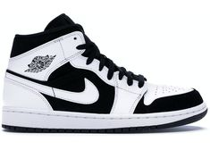 Buy and sell authentic Jordan 1 Mid White Black shoes and thousands of other Jordan sneakers with price data and release dates. Cool Jordans, Black Jordans, Nike Air Jordans, Mens Jordans, Jordan 1 Black, Jordan 1 Mid, Jordan Shoes Girls, Girls Shoes, Zapatillas Nike Jordan