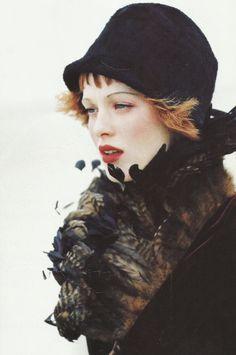 Karen Elson by Ellen von Unwerth for Vogue November 1997