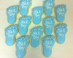 Baby Foot Cookies - Perfect Baby Shower Favors