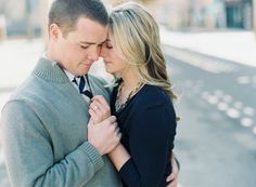 Love this engagement shot maybe with him kissing her hand