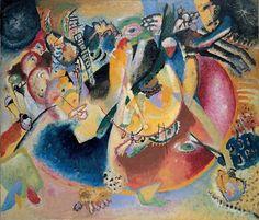 Wassily Kandinsky, Improvisation avec Formes froides (1914, huile sur toile, Moscou, Galerie d'Etât Tretiakov)  © ADAGP Paris and DACS London 2006