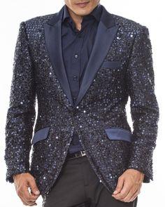 Fashion Blazer and Sport Coat-Stella Navy